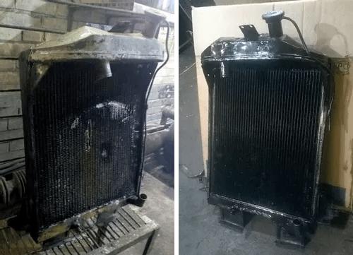 замена сот радиатора
